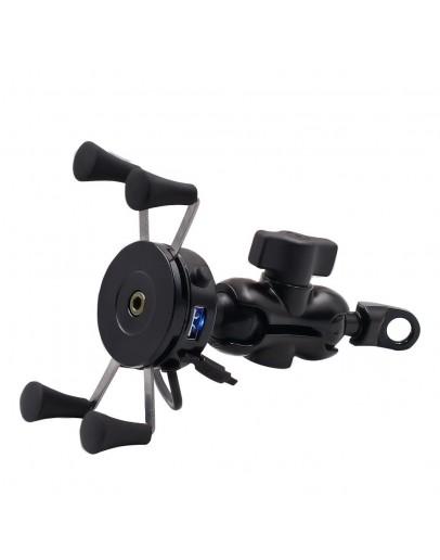 Suport telefon universal motocicleta ATV cu incarcator USB